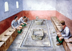 世界遺産・ローマ帝国の水洗便所
