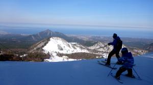 大山スキー場のパパと息子
